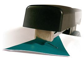 Stapler showing use of folded solicitors' corner