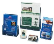 Selection of leaflet dispensers