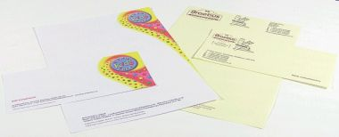 Selection of letterheads and comp slips